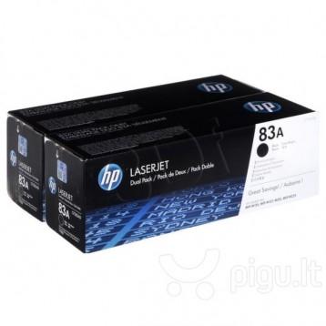 Lazerinė kasetė HP CF283AD   2 vnt. pakuotė   juoda