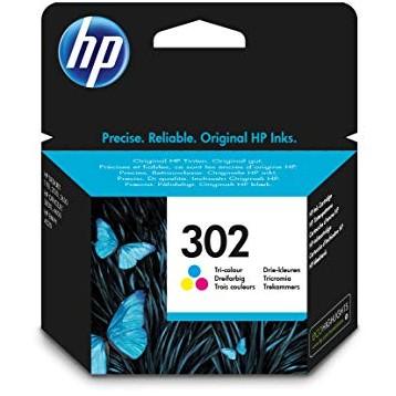 Rašalinė kasetė HP F6U65AE (Nr. 302) | trispalvė