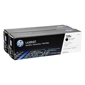 Lazerinė kasetė HP CE320AD (128A) | 2 vnt. pakuotė | juoda