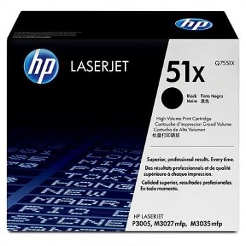 Lazerinė kasetė HP Q7551X   didelės talpos   juoda