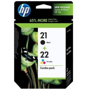 Rašalinių kasečių komplektas HP SD367AE (Nr. 21 + Nr. 22)   juoda + trispalvė