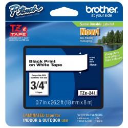Juostelė Brother TZe-241 | 18mm*8m | balta juostelė | juodas tekstas