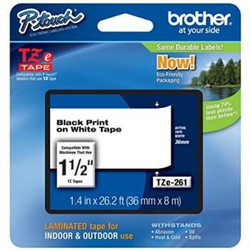 Juostelė Brother TZe-261   36mm*8m   balta juostelė   juodas tekstas