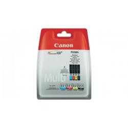 Rašalinių kasečių komplektas Canon CLI-551C / CLI-551CM / CLI-551CY / CLI-551BK | 4 spalvos