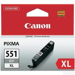 Rašalinė kasetė Canon CLI-551GY XL | didelės talpos | pilka