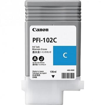 Rašalinė kasetė Canon PFI-102C   žydra