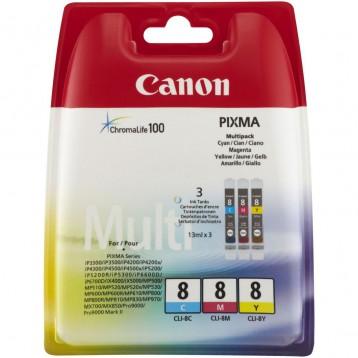 Rašalinių kasečių komplektas Canon CLI-8C / CLI-8M / CLI-8Y | 3 spalvos
