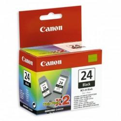 Rašalinė kasetė Canon BCI-24BK | 2 vnt. pakuotė | juoda