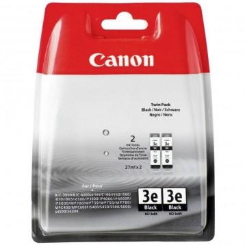 Rašalinė kasetė Canon BCI-3eBK | 2 vnt. pakuotė | juoda