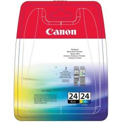 Rašalinių kasečių komplektas Canon BCI-24   juoda + trispalvė