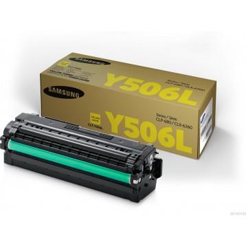 Lazerinė kasetė Samsung CLT-Y506L   didelės talpos   geltona