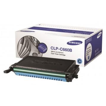 Lazerinė kasetė Samsung CLP-C660B   didelės talpos   žydra