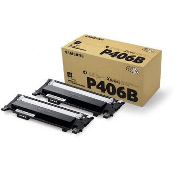 Samsung CLT-P406B toneris, juodas 2-pack