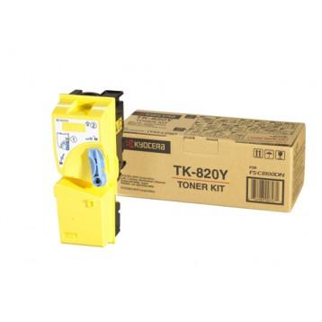 Lazerinė kasetė Kyocera TK-820Y   geltona