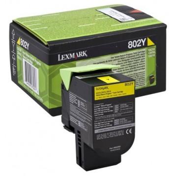 Lazerinė kasetė Lexmark 80C20Y0 (802Y) | geltona
