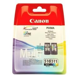 Rašalinių kasečių komplektas Canon PG-510 / CL-511   juoda + trispalvė