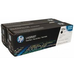 Lazerinė kasetė HP CB540AD (125A) | 2 vnt. pakuotė | juoda