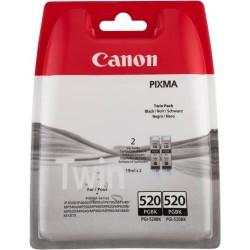 Rašalinė kasetė Canon PGI-520BK | 2 vnt. pakuotė | juoda