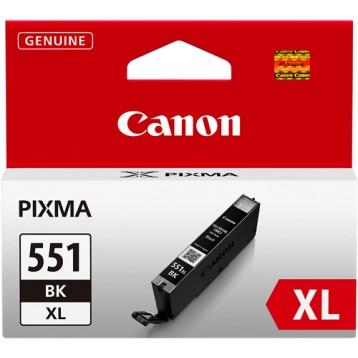 Rašalinė kasetė Canon CLI-551BK XL | didelės talpos | juoda