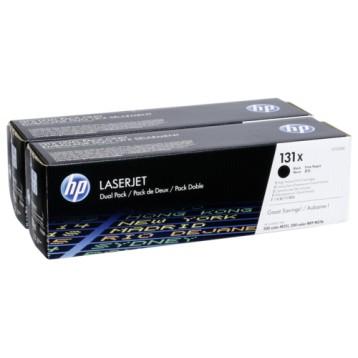 Lazerinė kasetė HP CF210XD (131X) | didelės talpos | 2 vnt. pakuotė | juoda