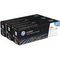 Lazerinių kasečių komplektas HP CB541A/CB542A/CB543A (125A)