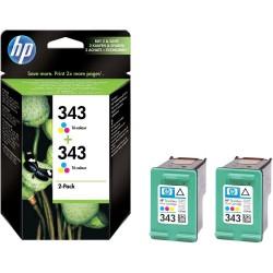 HP 343 2-pack Tri-color Original Ink Cartridges (C8766EE)