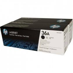 Lazerinė kasetė HP CB436AD   2 vnt. pakuotė   juoda
